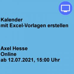 Kalender mit Excel-Vorlagen