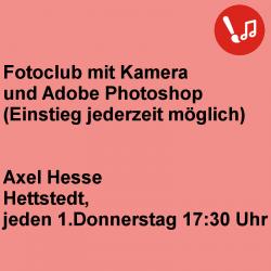 Fotoclub mit Kamera und...