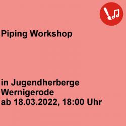 Piping Workshop JH Wernigerode