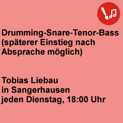 Drumming - Snare-Tenor- Bass